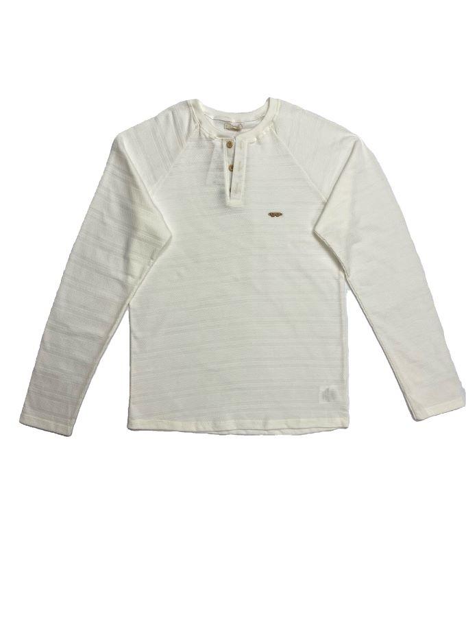 Camiseta em malha texturizada - Tam 14