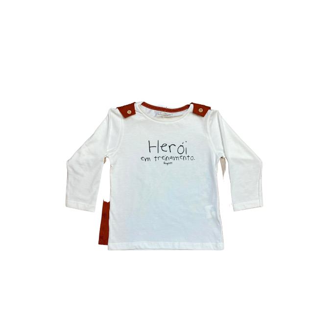 Camiseta Herói de Capa - Tam 3 a 6 anos
