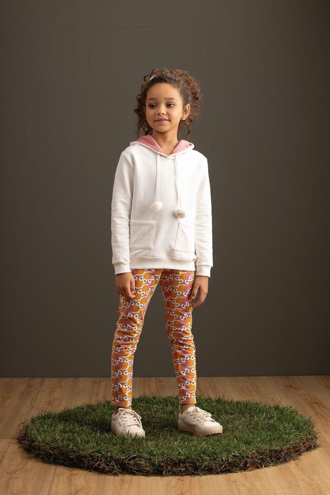 Conjunto Blusão com capuz e Calça colorida  – Tam 04 a 08 anos
