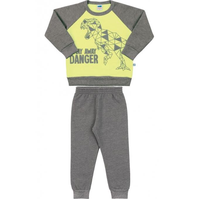 Conjunto Blusão e Calça cinza/verde neon – Tam 04 a 08 anos