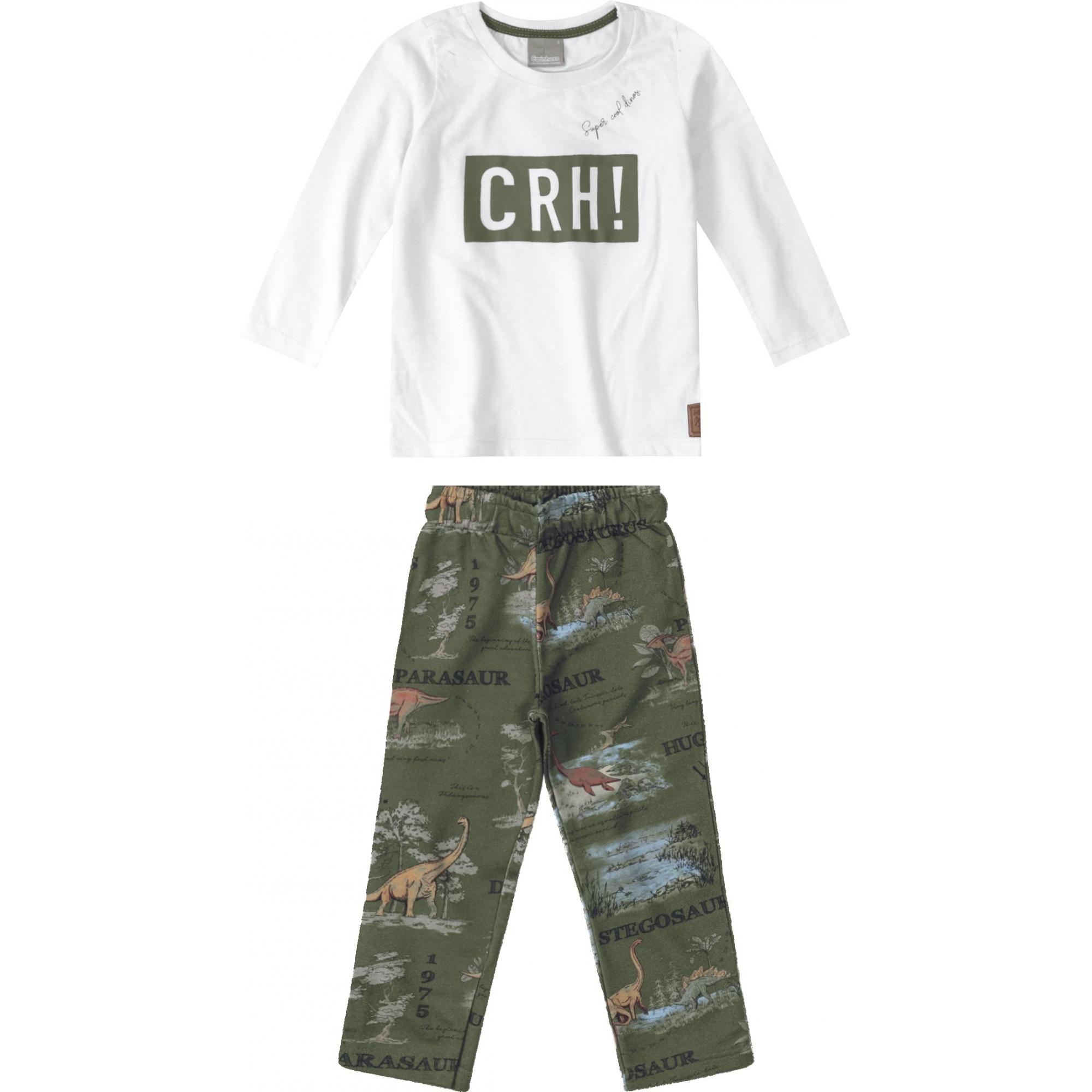 Conjunto Camiseta ML e Calça Estampada  Tam 1 a 4 anos