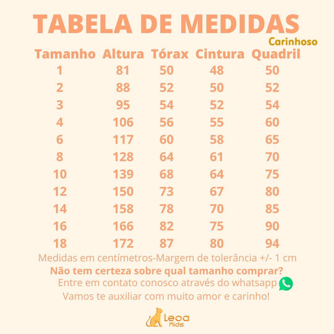 Conjunto Camiseta Meia malha - Tam 04 e 06 anos