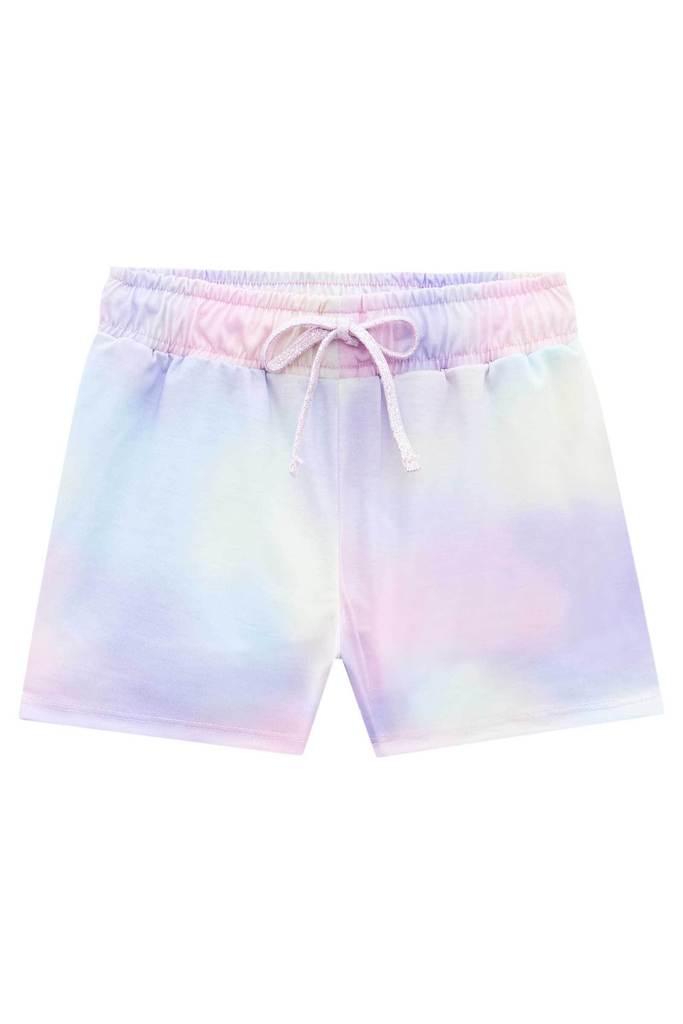 Pijama Blusa em Cotton e Shorts em Poli Light - Tam 14 e 16 anos