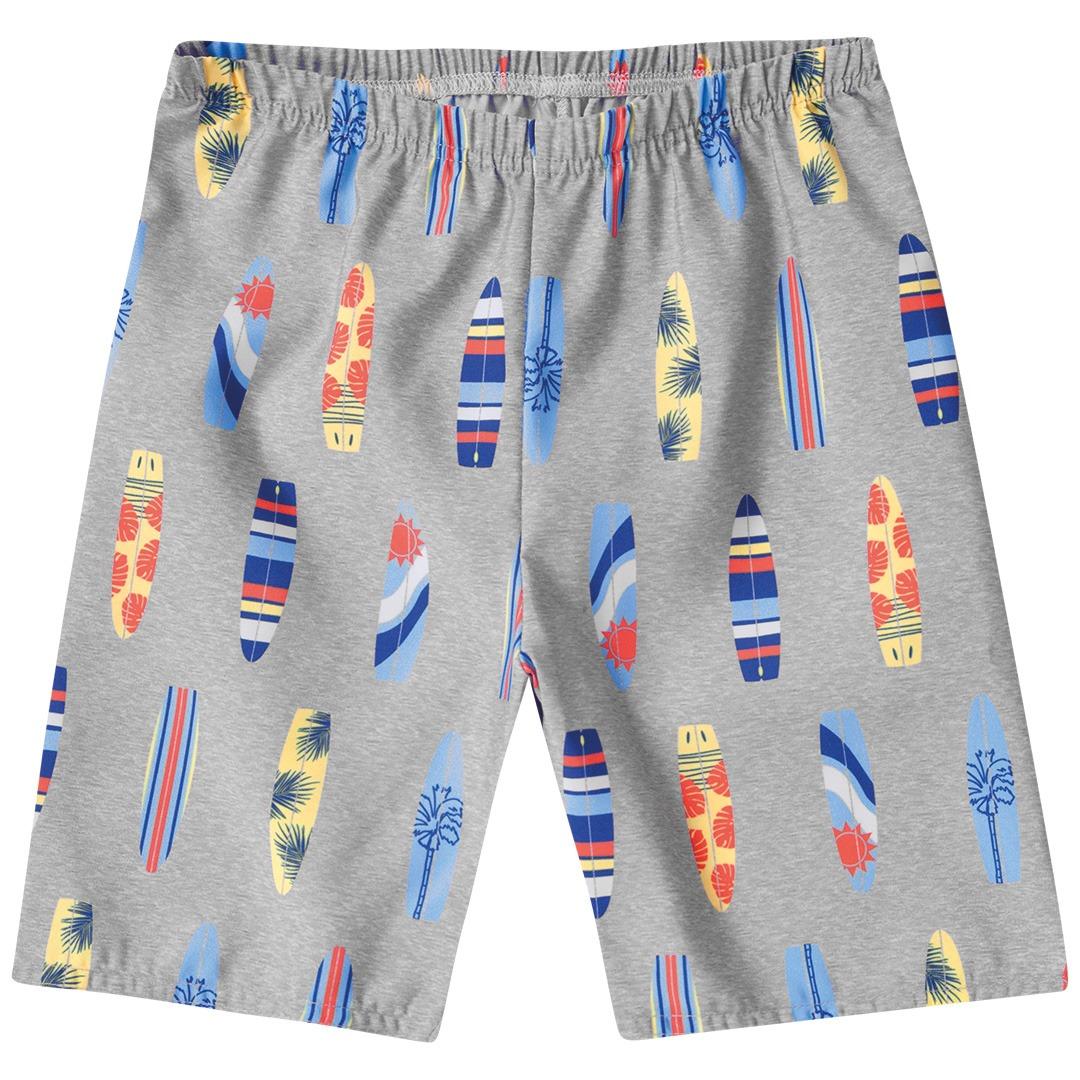 Conjunto Infantil masculina camiseta regata em algodão- Tam 4 a 8 anos