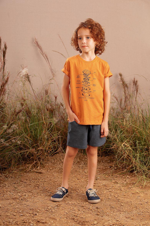 Conjunto Infantil masculino em algodão - Tam 4 a 10 anos