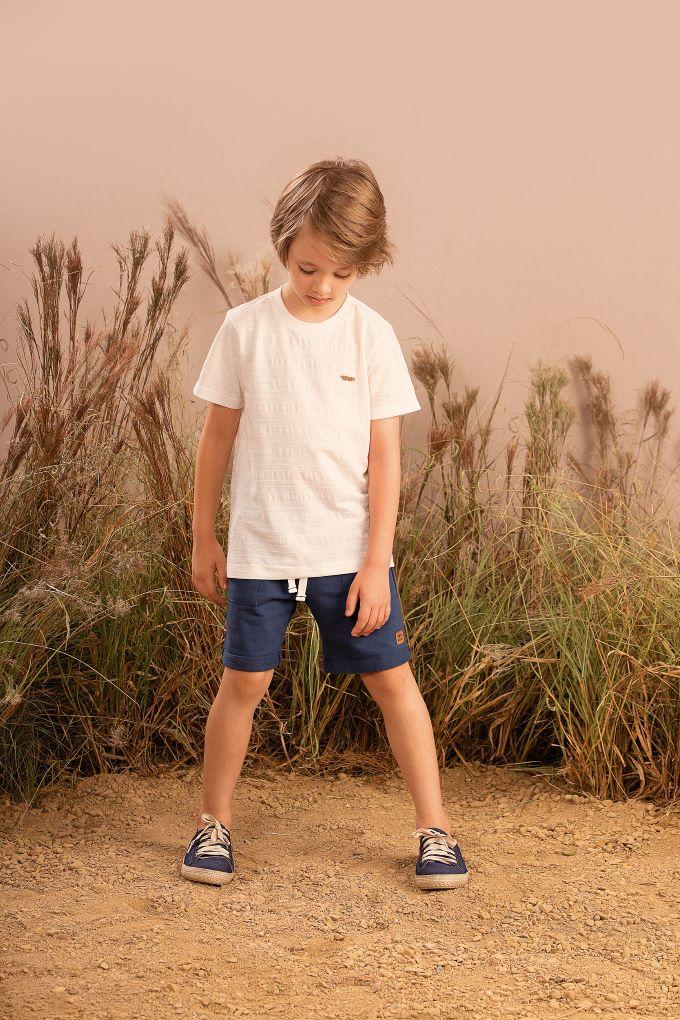 Conjunto Infantil masculino em malha Texturizada e moletom - Tam 2 a 10 anos
