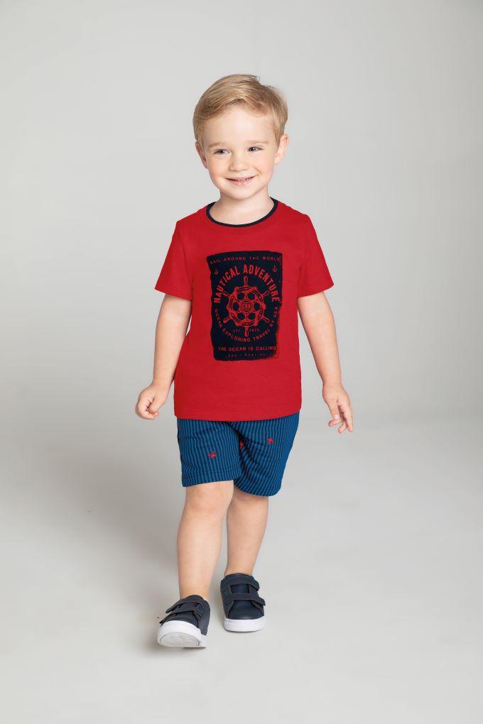 Conjunto Infantil masculino  em algodão - Tam 4 a 8 anos