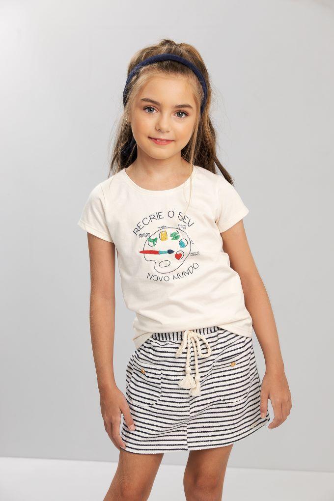 Conjunto Infantil menina cotton pintor - Tam 6 a 12 anos
