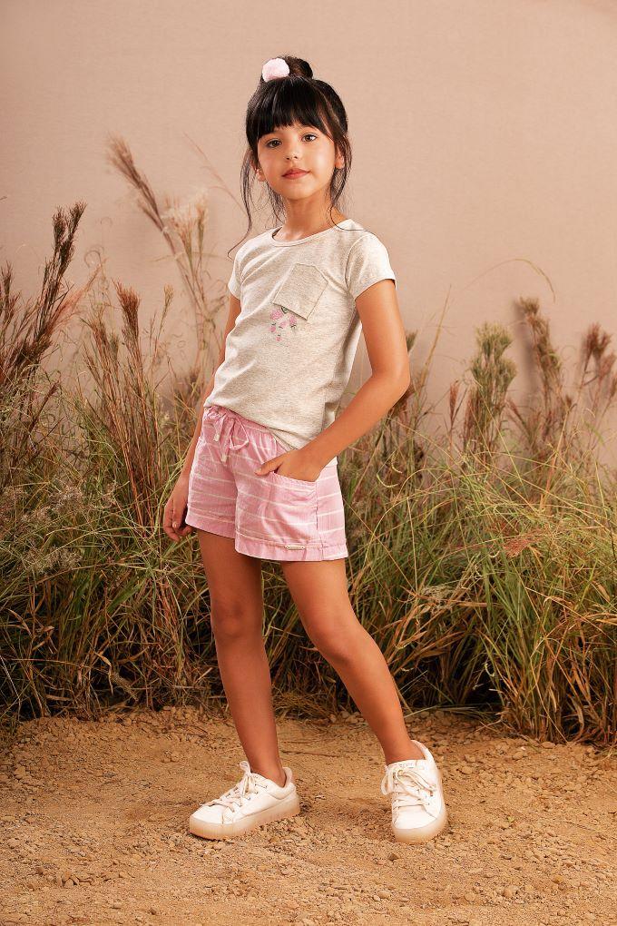 Conjunto infantil menina em algodão  Tam 4 a 10 anos