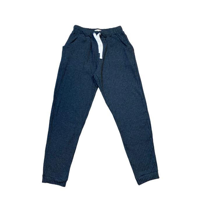 Conjunto Jaqueta e calça canelada preto - Tam 12 a 14 anos