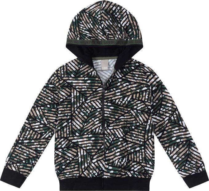 Jaqueta com capuz de moletom camuflado - Tam  16 anos
