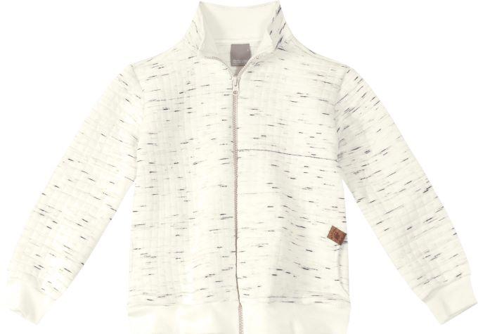 Jaqueta  de moletom texturizado  - Tam 16 anos