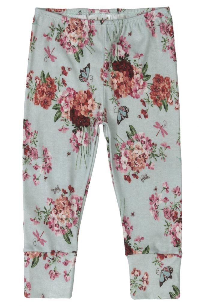 Kit Body manga curta, Calça e Casaco em Suedine estampado com flores - Tam M: 6-9M / G: 9-12M