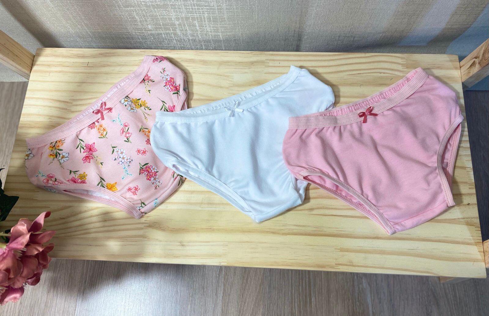 Kit Calcinha infantil em algodão - Tam 1 a 3 anos