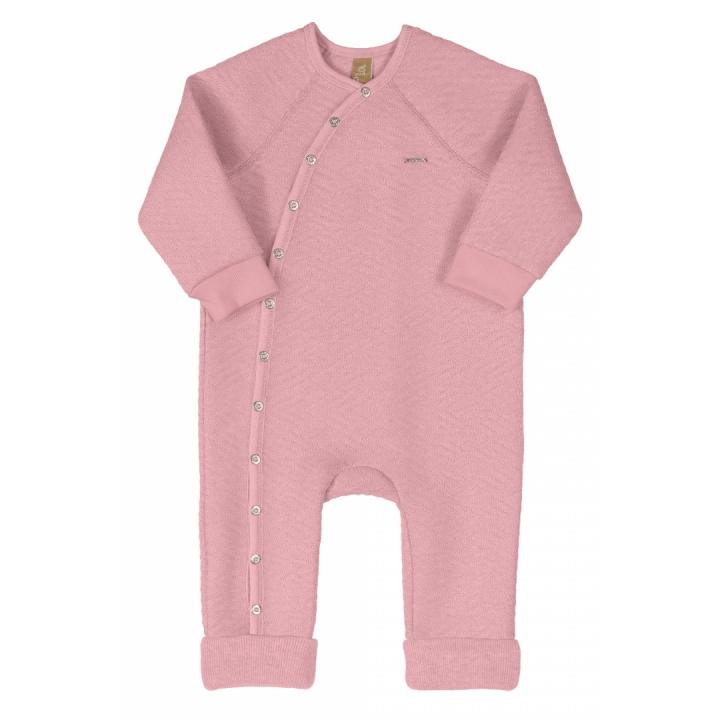 Macacão em malha matelassê rosa – Tam P: 3-6m / M: 6-9M / G: 9-12M