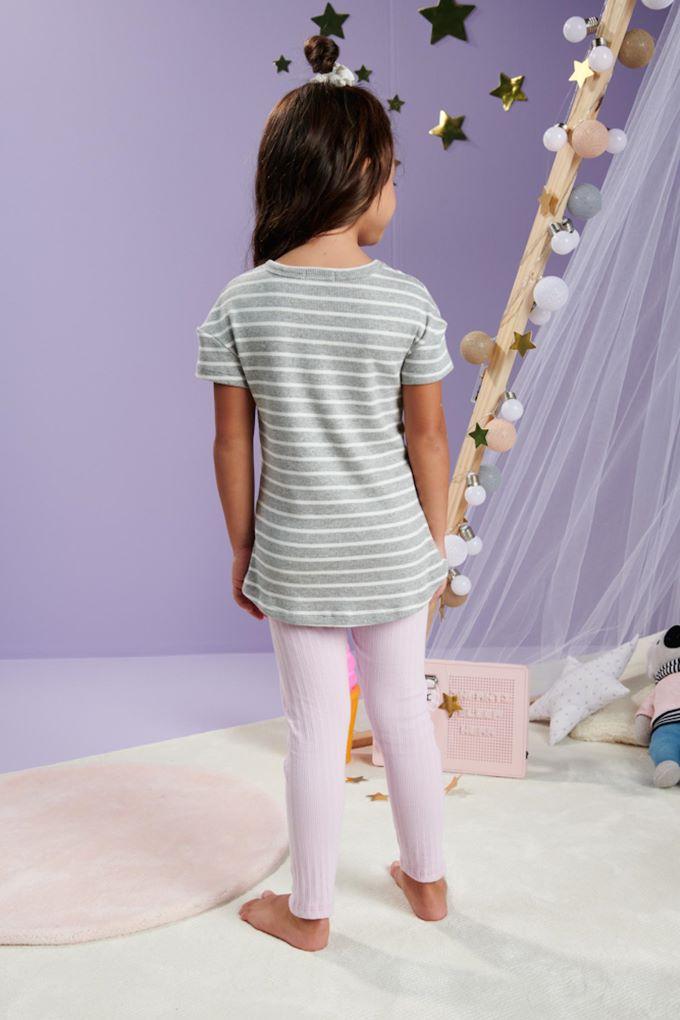 Pijama infantil menina em malha canelada - Tam- 4 a 10 anos