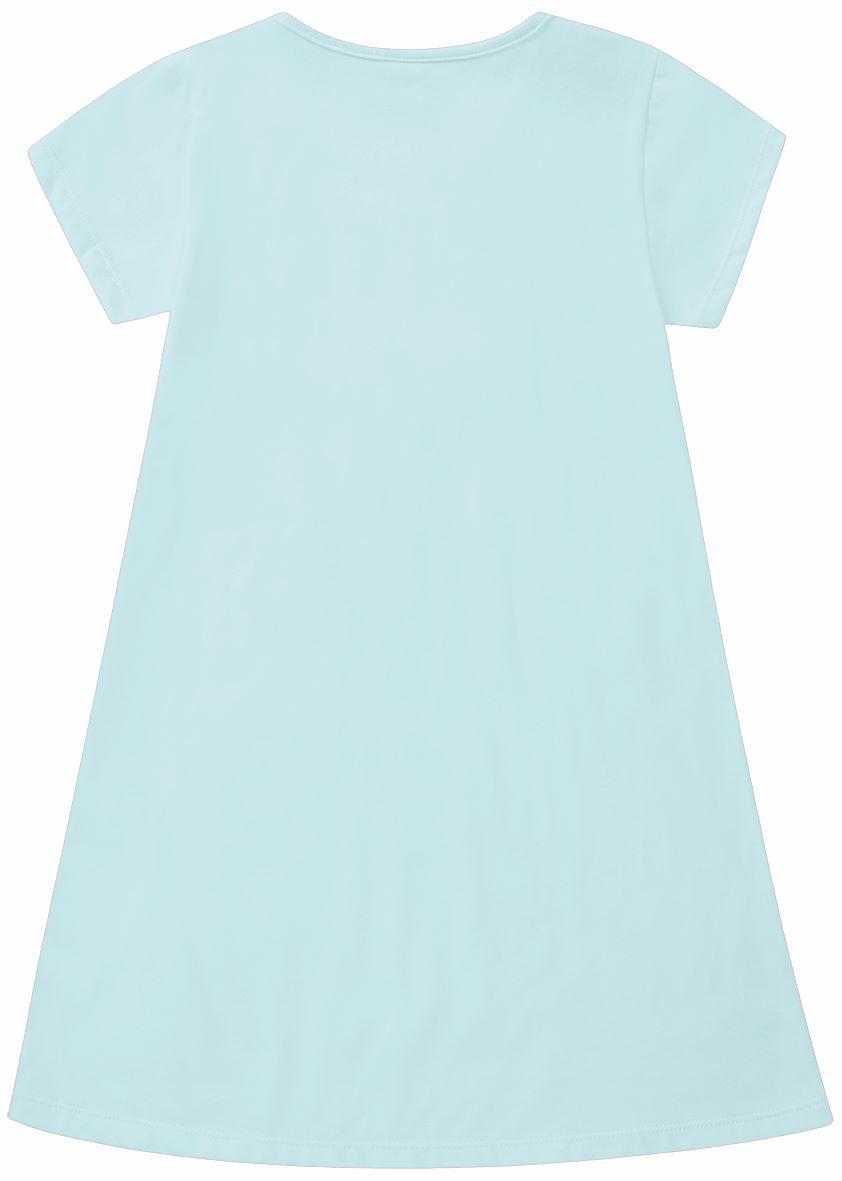 Vestido Infantil básico azul em algodão - Tam 4 a 8 anos