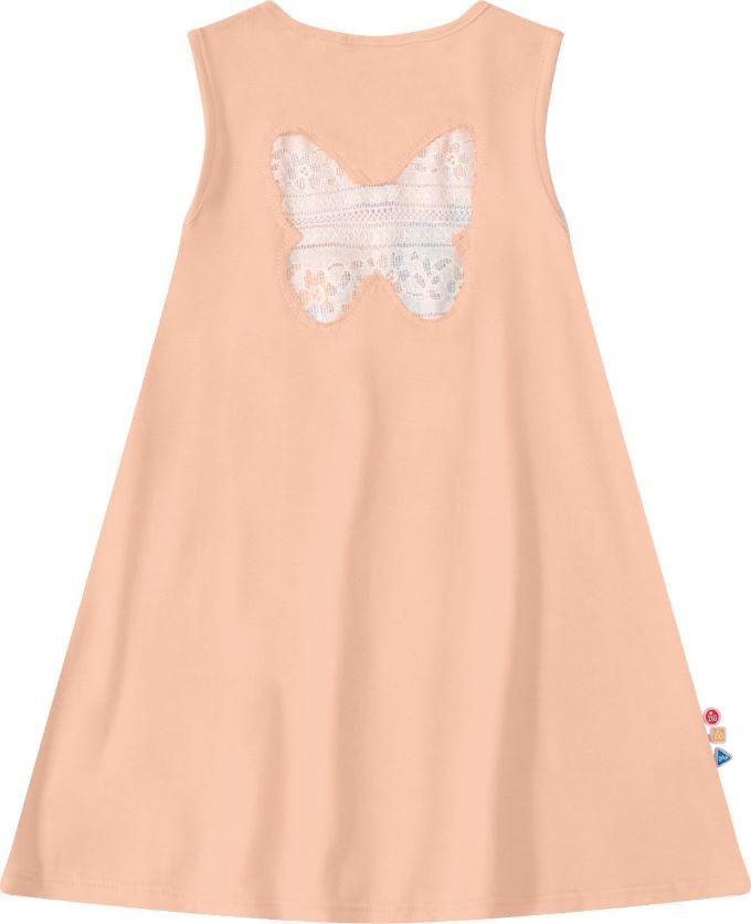 Vestido Infantil com estampa floresta em algodão - Tam 4 a 8 anos