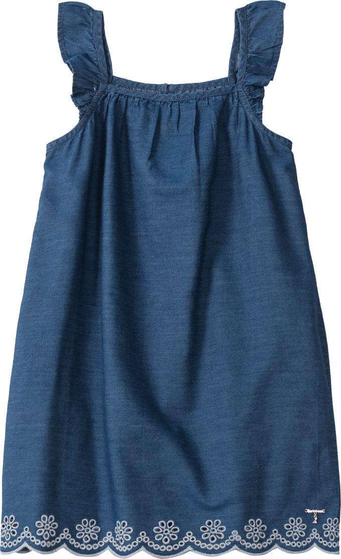 Vestido Infantil de alça em Jeans - Tam 10 a 16 anos