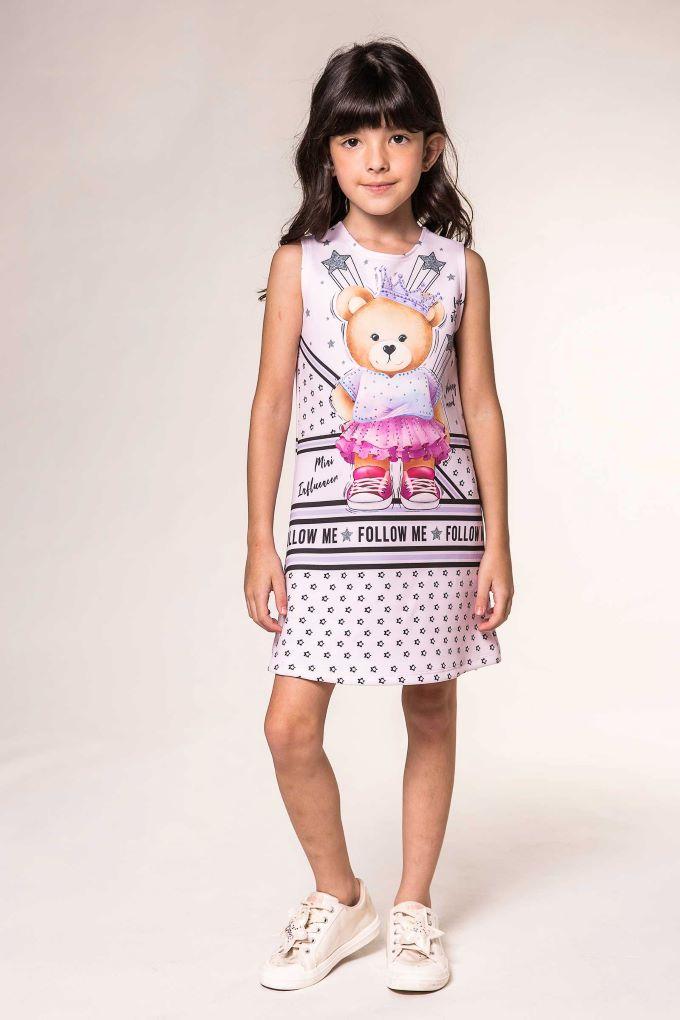 Vestido infantil mini influencer  Tam 2 a 10 anos