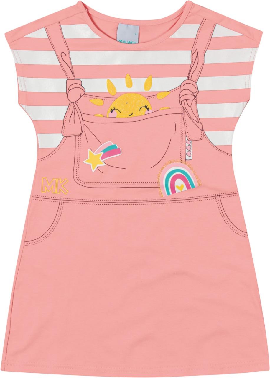 Vestido Infantil sol em algodão - Tam 2 a 8 anos
