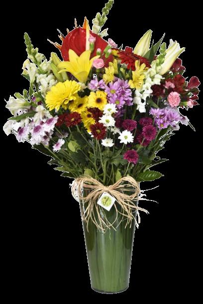 Bouquet Alegria no Acrílico