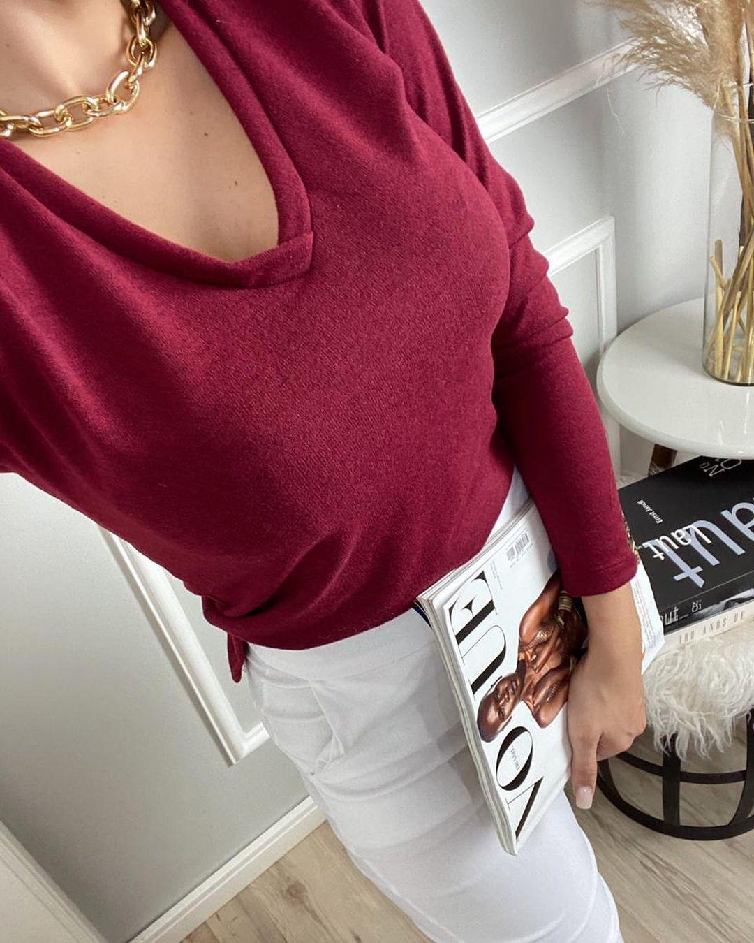 Blusa de lãzinha manga longa