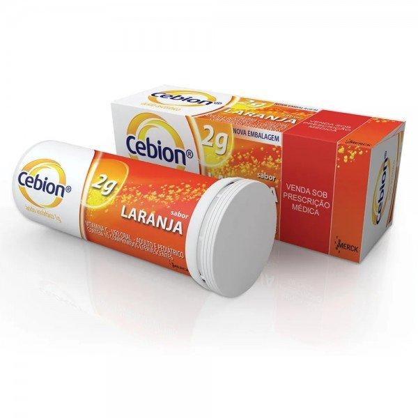 Cebion 2g Sabor Laranja MERCK 10 Comprimidos Efervescentes VITAMINA C