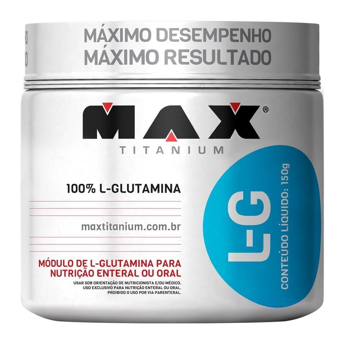L-Glutamina max titanium 300g