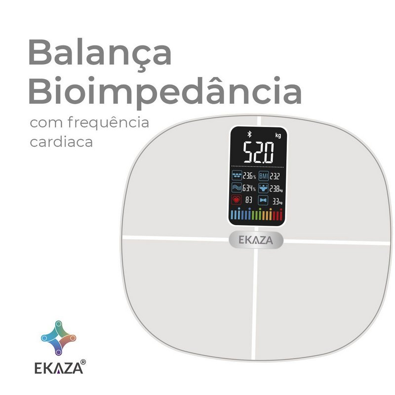 EKAZA Balança de Bioimpedância com Frequência Cardíaca