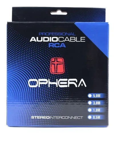Ophera Professional Audio Cable (cabo RCA 50cm 2 canais)