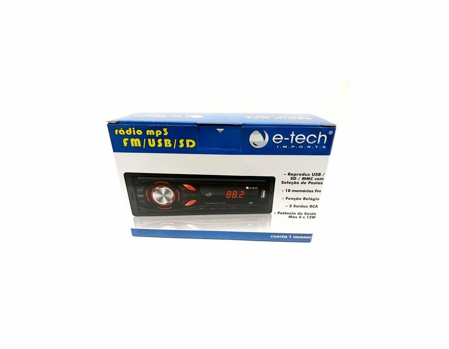 Radio Automotivo Mp3 Fm Usb Sd Bluetooth