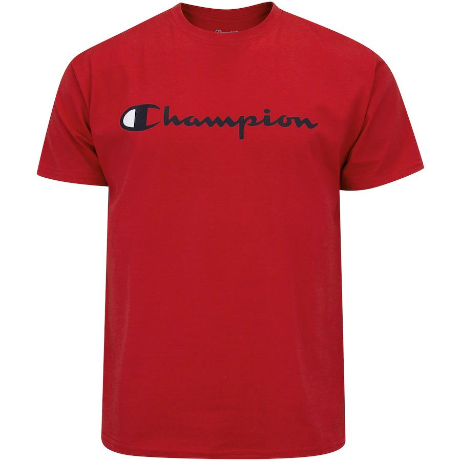 CAMISETA CHAMPION LOGO INK RED