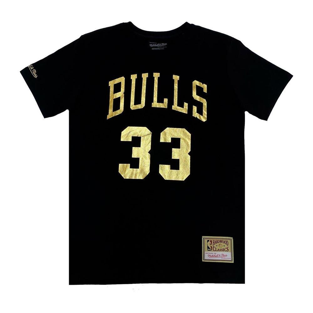 CAMISETA MITCHELL & NESS NBA CHICAGO BULLS PIPPEN DOURADA