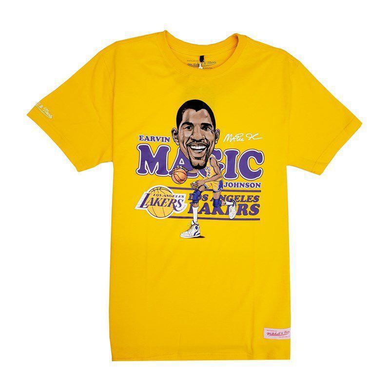 CAMISETA MITCHELL & NESS NBA MAGIC JOHNSON LOS ANGELES LAKERS