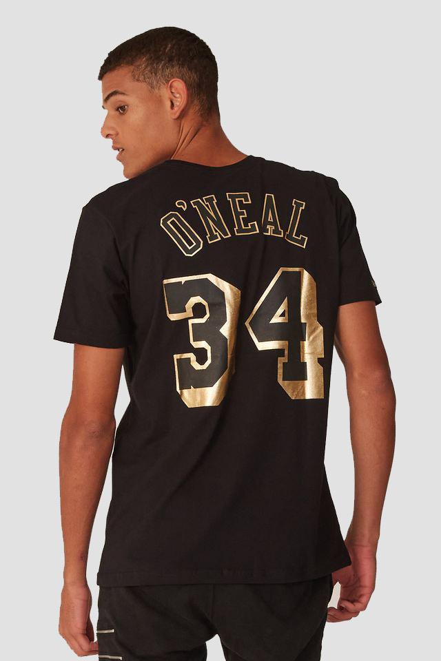 CAMISETA MITCHELL & NESS NBA LOS ANGELES LAKERS ONEAL DOURADA