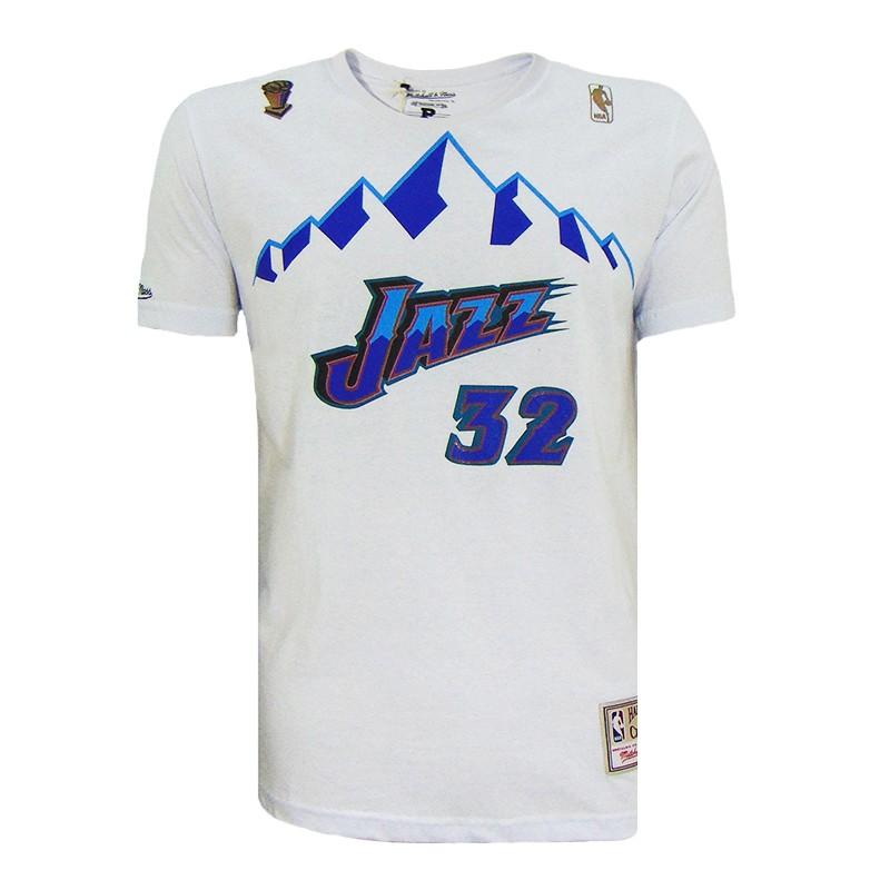 CAMISETA MITCHELL & NESS NAME NUMBER UTAH JAZZ MALONE 32 NBA