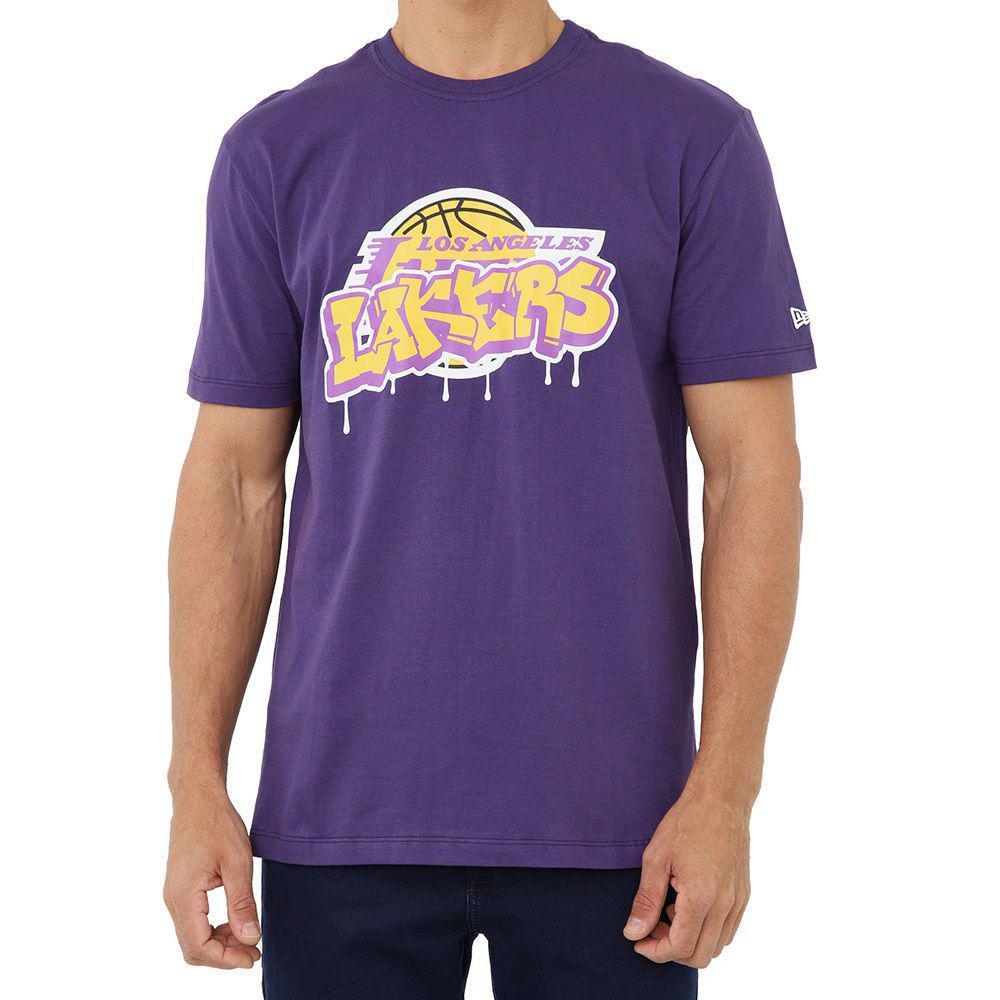 CAMISETA NEW ERA ARTE GRAFIT NBA LOS ANGELES LAKERS