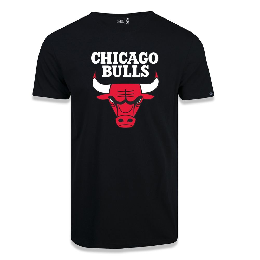 CAMISETA NEW ERA NBA BASIC LOGO CHIBUL PRETA