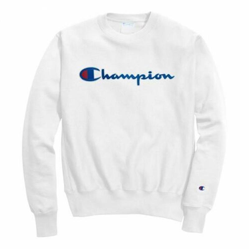 MOLETOM CHAMPION LIFE POWERBLEND GRAPHIC WHITE