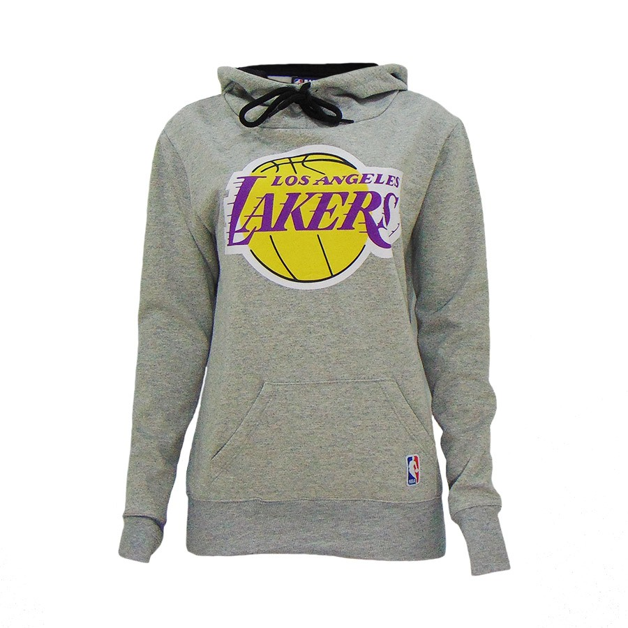 MOLETOM LOS ANGELES LAKERS FEMININO NBA CINZA