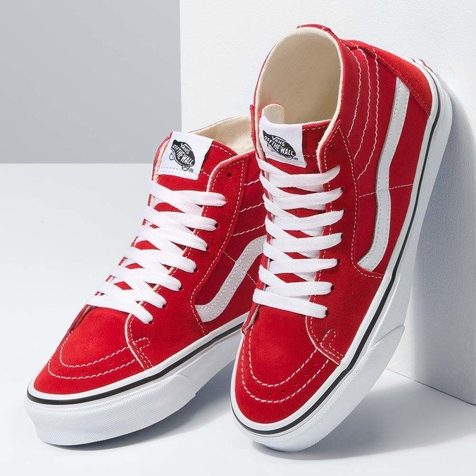TÊNIS VANS SK8 HI TAPERED RACING RED