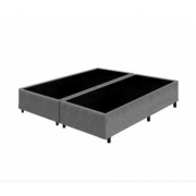 Base Box Queen 1.58x1.98 Sued Cinza