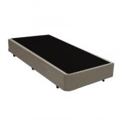 Base Box Solteiro 0.88x1.88 Corino Bege