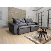 Sofá Esplendor Retrátil e Reclinável 2.10m - Cinza