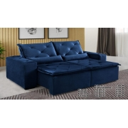Sofá Omega Retrátil e Reclinável 2,30m - Azul