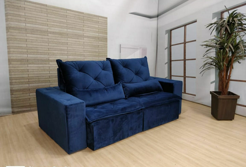 Sofá Esplendor Retrátil e Reclinável 2.10m - Azul