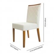 Cadeira Canada Lino Cru / Madeira Maciça