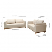Conjunto de sofá 2 e 3 lugares Rondomóveis 860