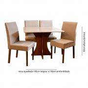 Conjunto Sala de Jantar 4 Cadeiras Lara Tec 402